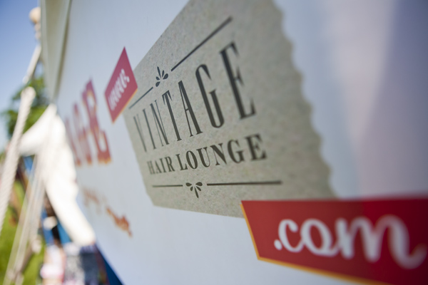 Vintage Hair Lounge marquee