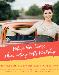 Vintage Hair Lounge3 hour Victory Rolls Workshop