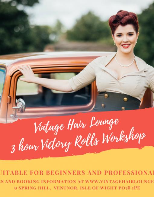 Vintage Hair Lounge3 hour Victory Rolls Workshop